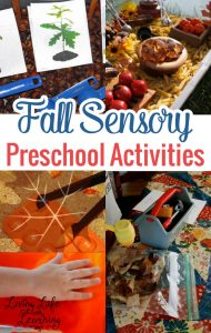 Get ready for the cool fall season and try some of these fun Fall sensory preschool activities in your home or classroom, the kids will have a blast!