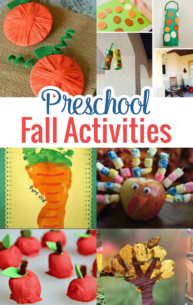 Bring out those red, orange, browns and yellows to create some precious preschool fall activities that your child will love.