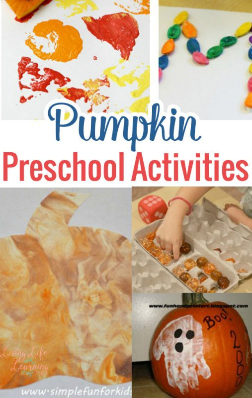 Get ready for fall with one of these fun pumpkin preschool activities
