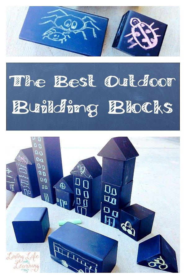 The Best Outdoor Building Blocks ~ A Chalk Adventure - Come and read on our adventures, using this wonderful set of building blocks, which is so much more than just building blocks. We love them!