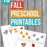 Get into the fall spirit with these fun Fall Preschool Printables to practice counting, tracing, patterning and fine motor skills and more.