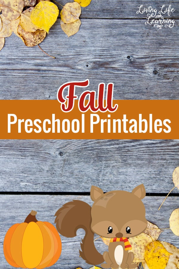Summer may be over but learning can still be fun with these Fall Preschool Printables