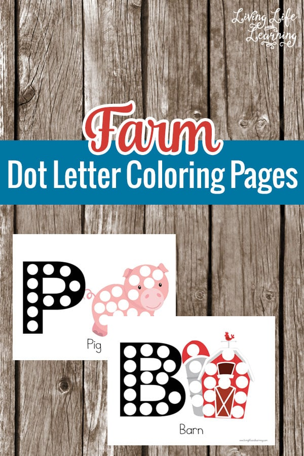 Get out your dot markers for these Farm Dot Coloring Pages, your preschooler will love coloring them in and learning the first letter of their names.