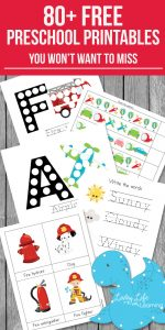 Free Preschool Printables You Don't Want to Miss