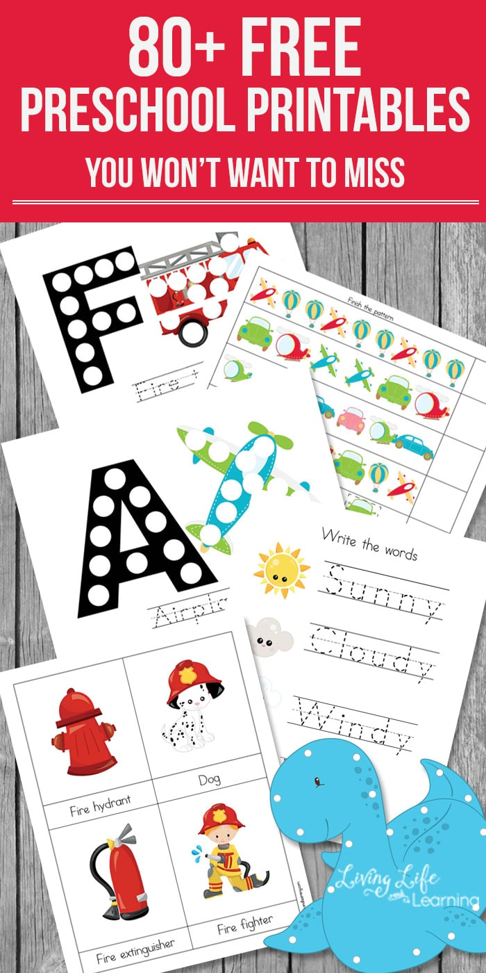 Have some fun with your preschooler and learn at the same time with these educational free preschool printables in various seasonal themes. There are counting activities, letter activities, writing activities and more.