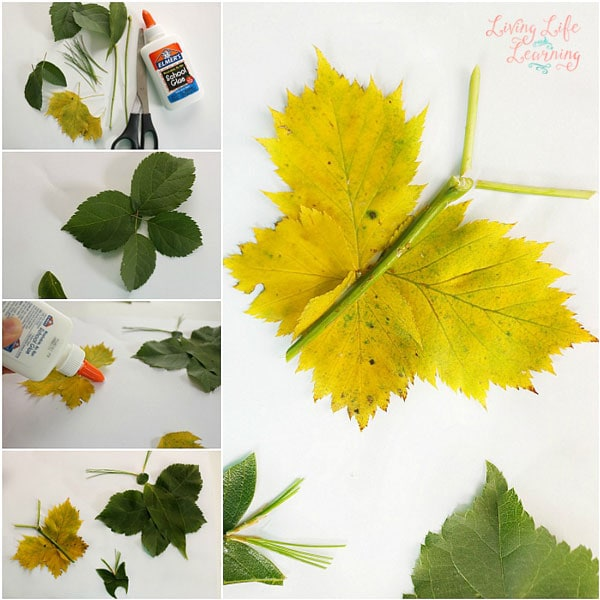 how to make butterflies with leaves
