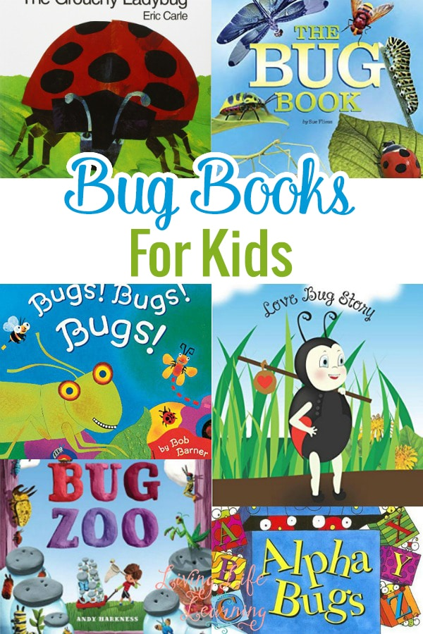 A list of bug books for kids that will go perfectly with our bug units as we head into the spring season and spend more time outdoors.