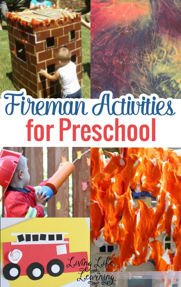 Fireman activities for preschool