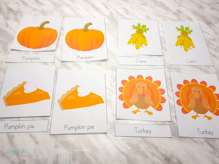 Thanksgiving 3 part cards