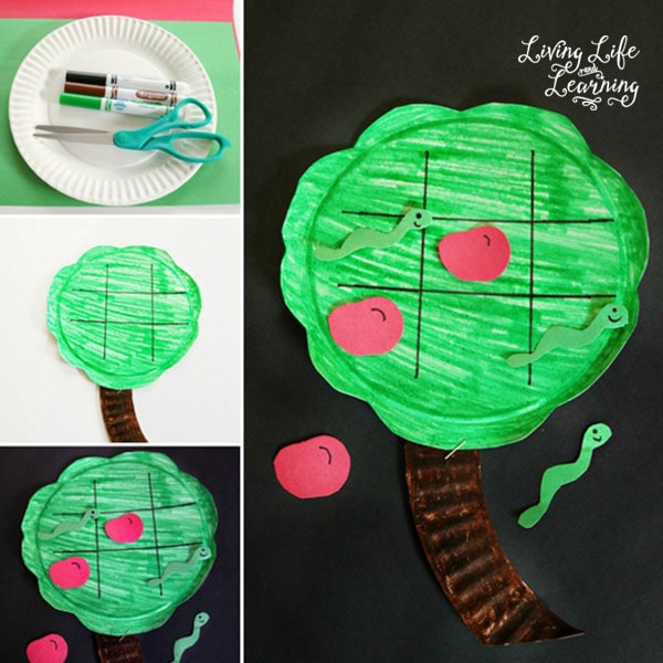 Create your own apple tree tic tac toe game for the fall with an apple theme and bring a favorite game back to life.