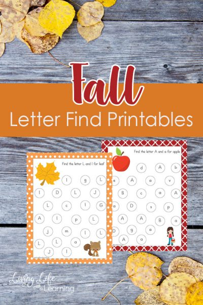 Fall Letter Find Printables - A fun game to learn upper and lowercase letters and make learning fun searching for the alphabet