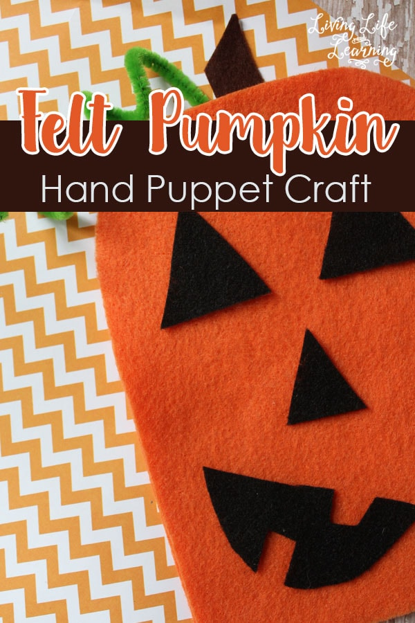 Get out your felt to create your own felt pumpkin hand puppet craft and have some Halloween fun.