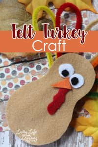 Create your own felt turkey craft for kids for Thanksgiving, this is a simple and wonderful project to do with kids of any ages.