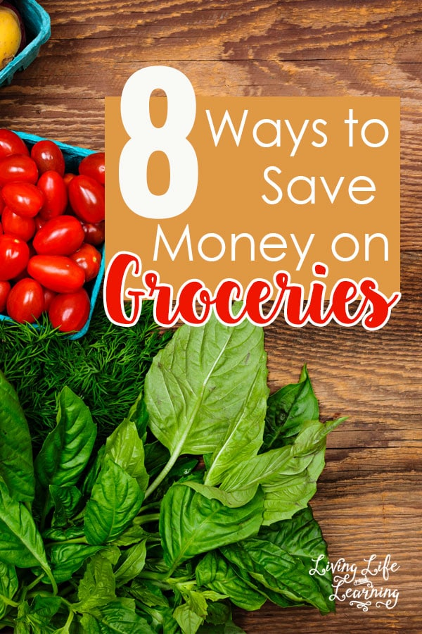 Can you afford to feed your family on one income? Try one of these 8 ways to save money on groceries, the easiest way to start saving money