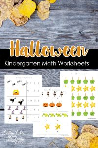 These Halloween Kindergarten math worksheets will add some spooky fun for your student. Get dot coloring pages, writing, counting worksheets and more.