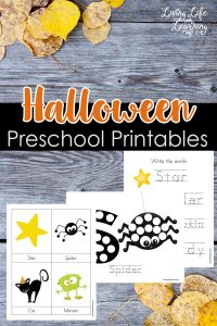 Learn new Halloween vocabulary with these cool Halloween preschool printables along with tracing, writing and coloring printable activities.