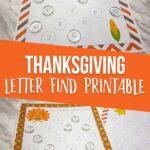 Thanksgiving Letter Find Printables