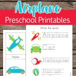 Explore transportation with these airplane preschool printables and practice your counting, tracing, and writing skills.