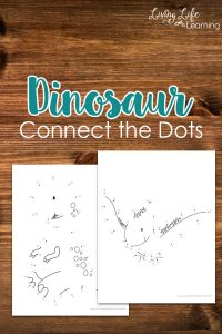 Dinosaur connect the dots printables - Learn to count while creating your own dinosaur and then color them in, perfect for dinosaur lovers.