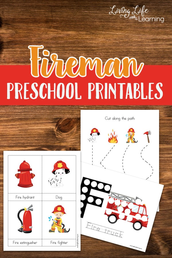 If you have a fireman lover these adorable fireman preschool printables will make their day, download them here now for these fun learning activities.