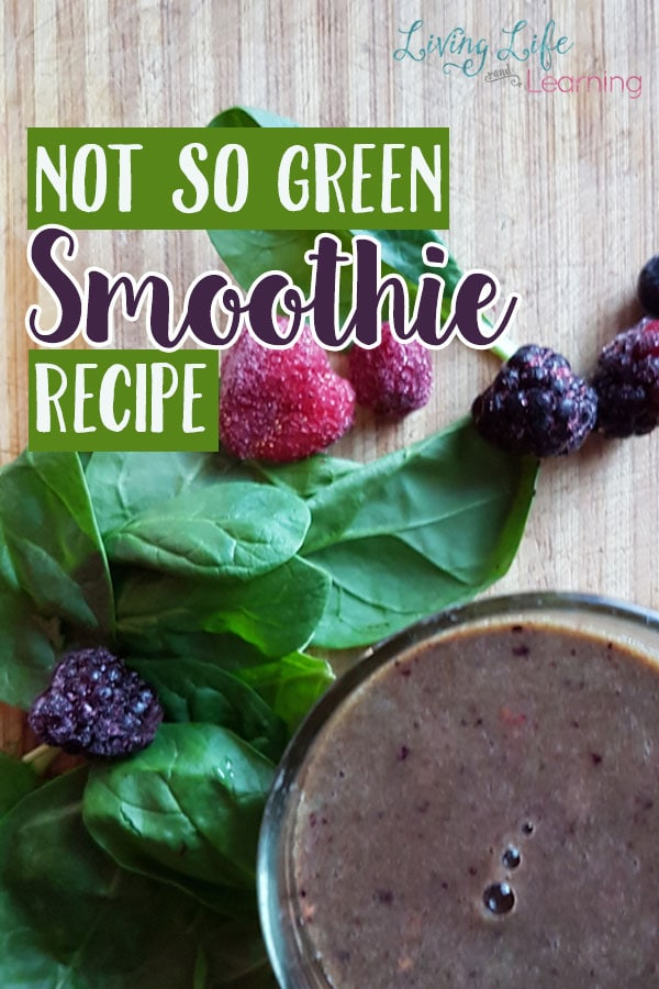 Can't stand those the taste of those green smoothies? But, still want the healthy snack? This not so green smoothie is perfect for a healthy treat