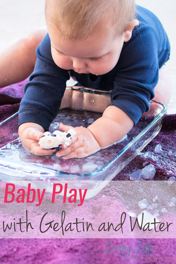 Baby Play with Gelatin and Water