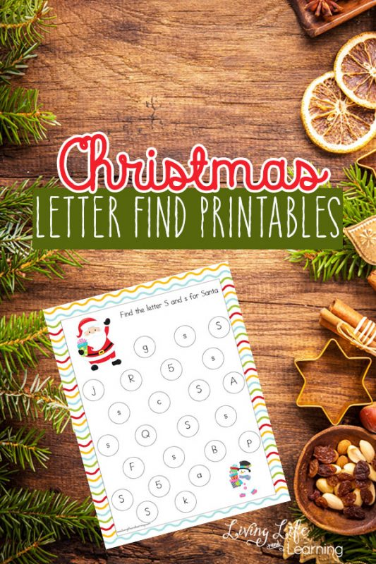 Looking for the perfect way to blend Christmas and learning? These Christmas Letter Find Printables are just what you need! #alphabet #kindergarten #preschool #homeschool #Christmas