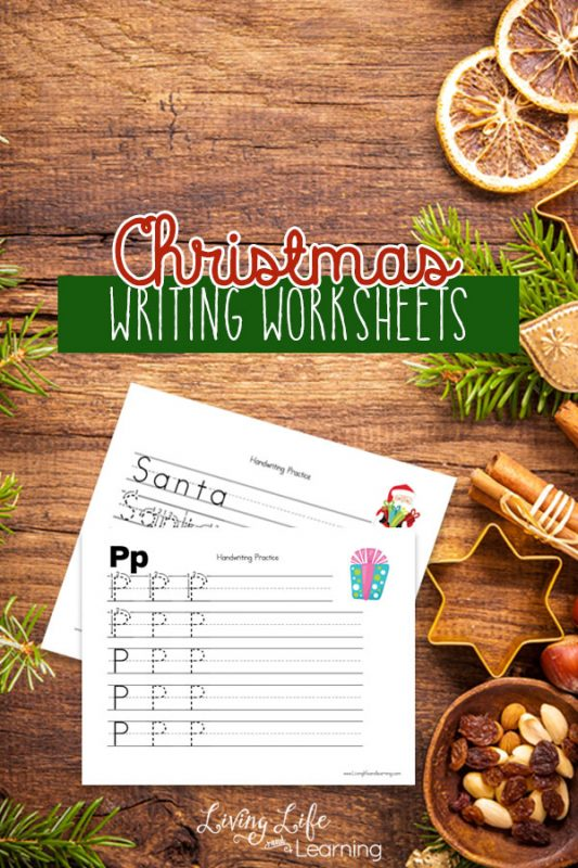 Practice penmanship with these adorable Christmas Kindergarten Writing Worksheets, your kids will thank you.