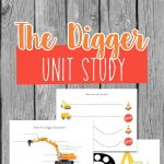 Do you have a child who loves diggers? Put together your own Digger unit study to learn all about them using books, activities and printables.