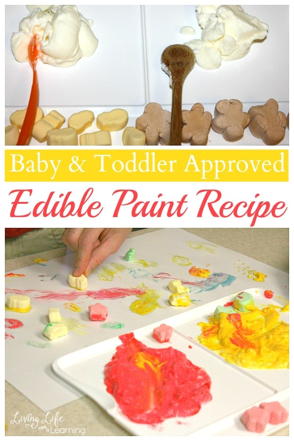 Here is a great and easy edible paint recipe that is baby and toddler approved. They will love it! And guess what? It's not just for babies and toddlers, but you can make edible paint for kids of all ages.