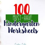 A mega list of 100 kindergarten worksheets and printables to use with your child or classroom.