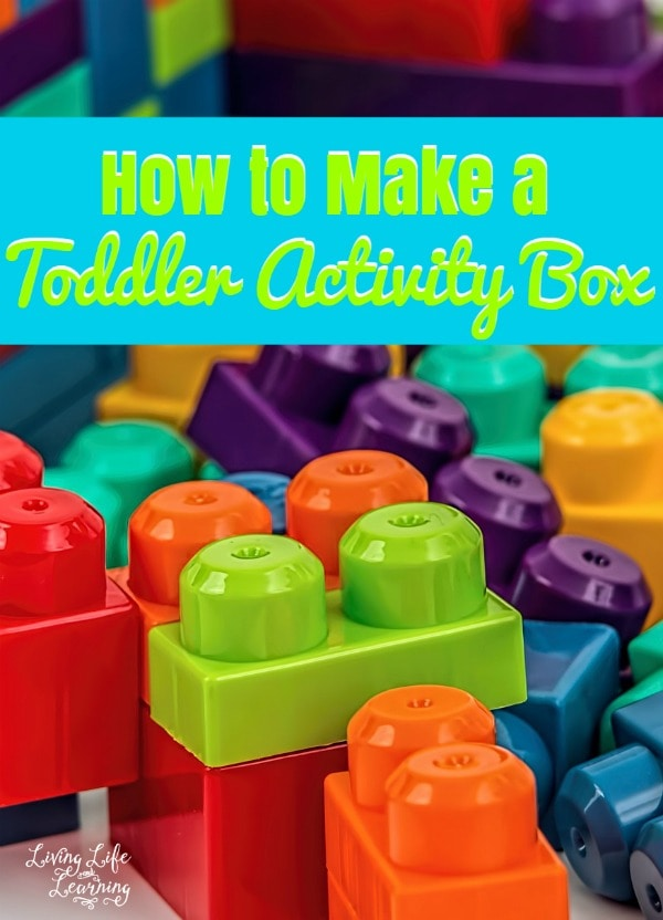 We put special things inside the toddler activity box that are easy to use, but they also won't make a huge mess (although she does manage to make a mess of some of the items anyway).