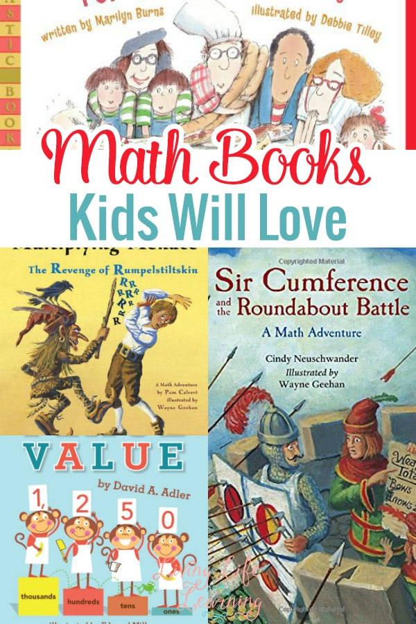 Using books for Math is really helpful. They bring fun to the mix and make it easier to learn. I am very excited to bring you a fun list of Math books kids will love.