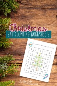 Get skip counting with these Christmas skip counting worksheets you child will love. Use counters or dot markers to count through the 30, 50 and 100 charts. #homeschooling #homeschool #counting #kindergarten