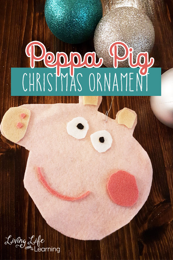 Create your own Peppa Pig ornament, your favorite little pig from the TV show your child loves, share Christmas morning with your favorite pig.