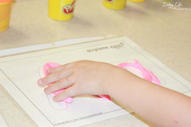 Here, we target Language Arts (alphabet letter formation and left-to-right letter formation), sensory tasks and formation of shapes through these playdough alphabet games for fine motor skills.