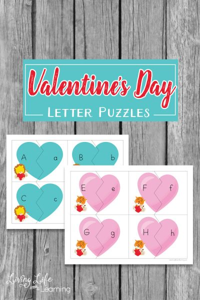 Valentine's Day Letter Puzzles you have to try with students so they can have fun matching lower and uppercase alphabet letters.