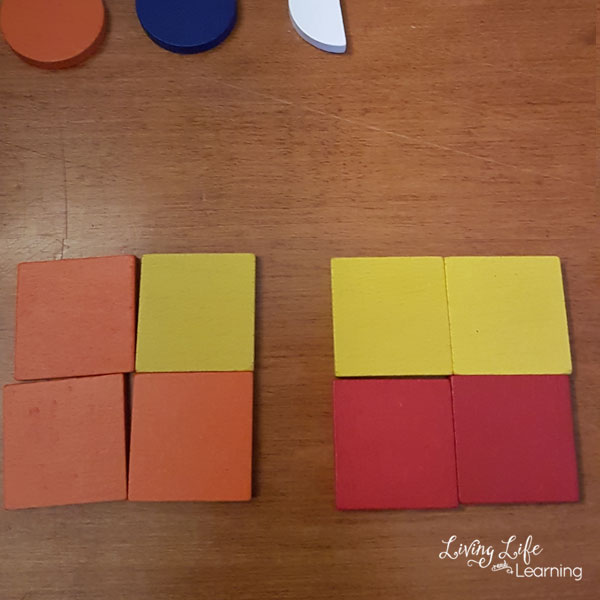 Fractions with Spielgaben blocks - learn to visualize fractions with these pattern blocks