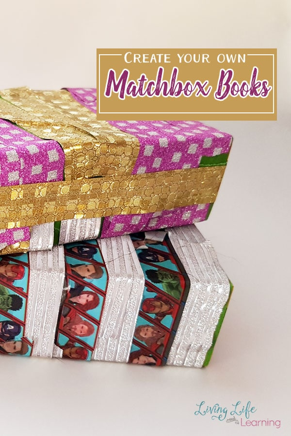 I saw these Matchbox Books on the Nuture Store and it inspired me to create one of these with my kids. While we're not so crafty, I had my kids decide how they wanted to decorate their boxes, and they decided to use my new stash of washi tape.