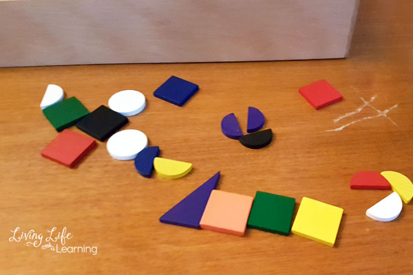 creative building with Spielgaben pattern blocks
