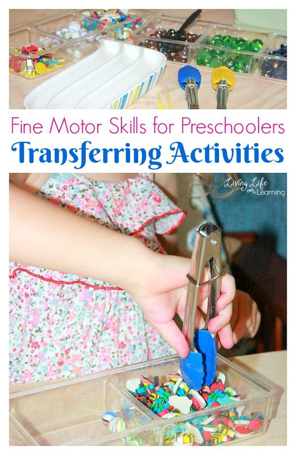 We will continue to discuss Fine Motor Skills for Preschoolers, but this time, we will focus on why Transferring Activities are so important at this age.