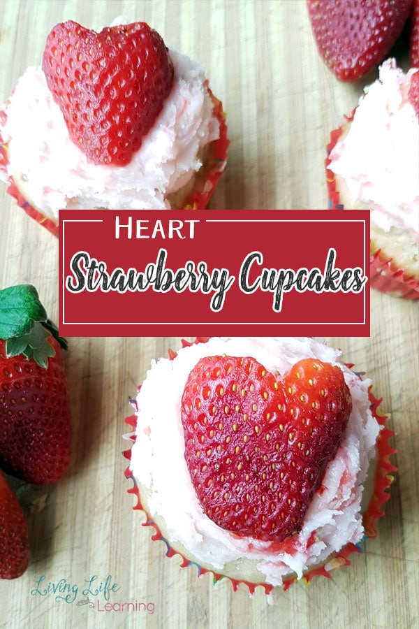 Heart strawberry cupcakes with strawberry icing that are mouthwatering and moist, you can bake these with your kids and have them help in the kitchen. These strawberry cupcakes are a favorite dessert with the whole family.