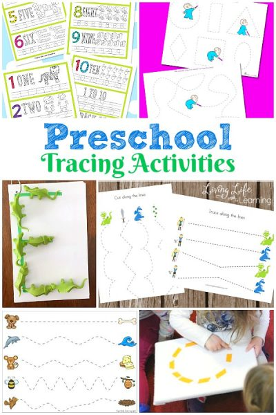 You will get so many awesome ideas for Preschool tracing activities! Be sure to try a few with your little ones! They will love them all!