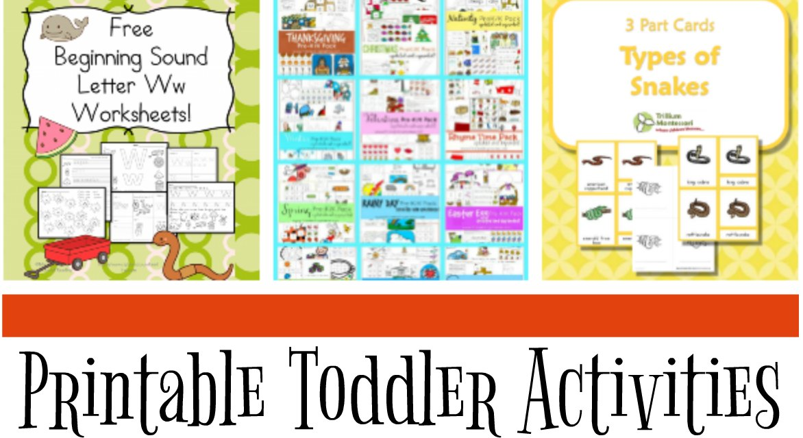 Printable Toddler Activities