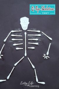 Learn about the human body's skeletal system and make it come alive with these cotton swab skeleton craft