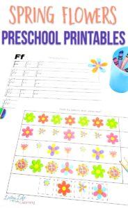 Spring Flowers Preschool Printables