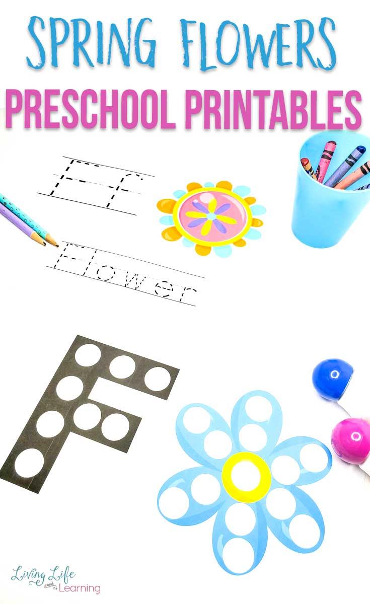 Spring Flower Preschool Printables