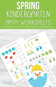 My daughter loves these spring kindergarten math worksheets, they're colorful and make math fun and make learning a breeze. Get these kindergarten addition, subtraction, counting worksheets along with puzzles to enjoy math this spring.