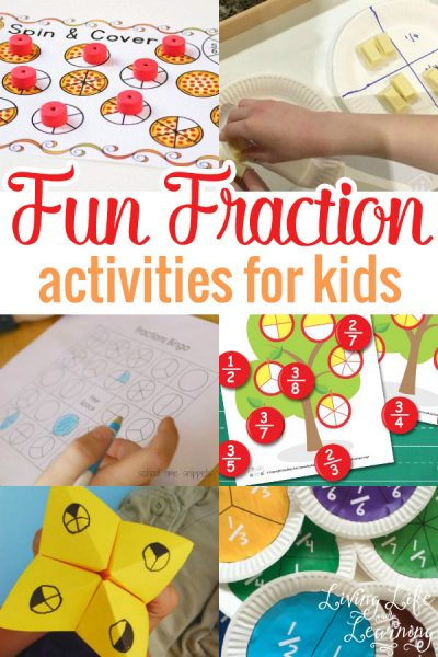Learning fractions doesn't have to be a bore - try these fun fraction activities for kids to make learning about fractions more exciting.