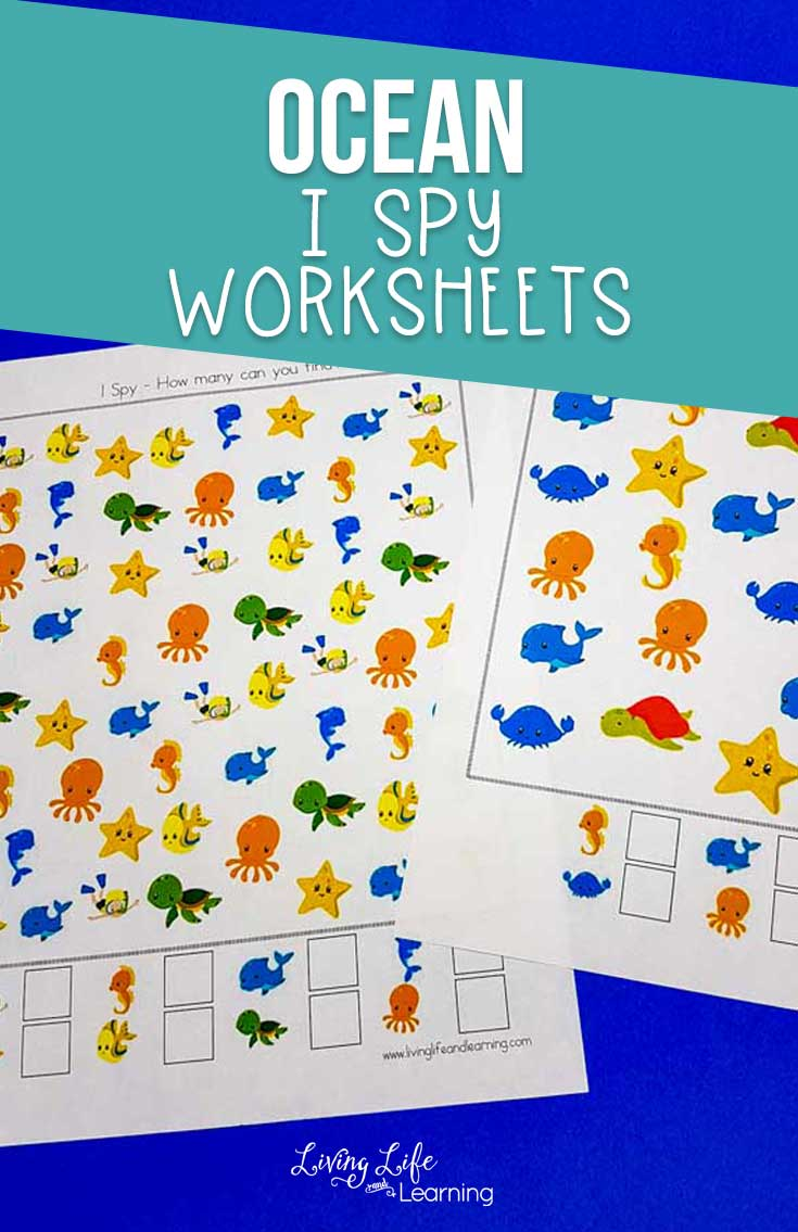Ocean I Spy Game Printables
